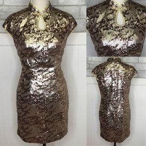 vintage leopard sequin Dress